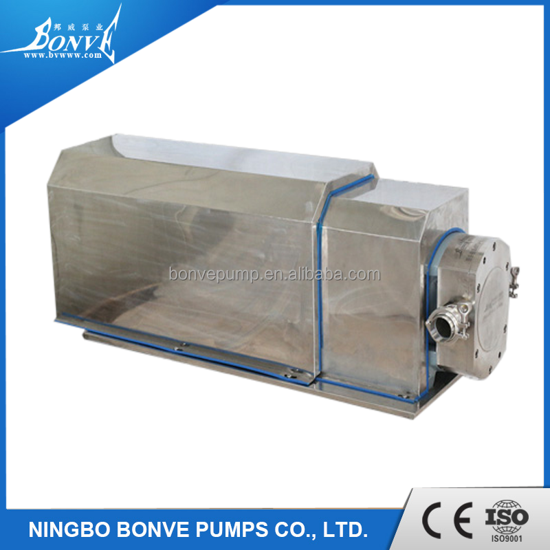 Sanitary stainless steel lobe pump for antibiotic