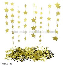 FengRise Wall Garlands 4m Long Birthday String Chain Wedding Party Paper Hanging Star Banner Handmade Room Decor