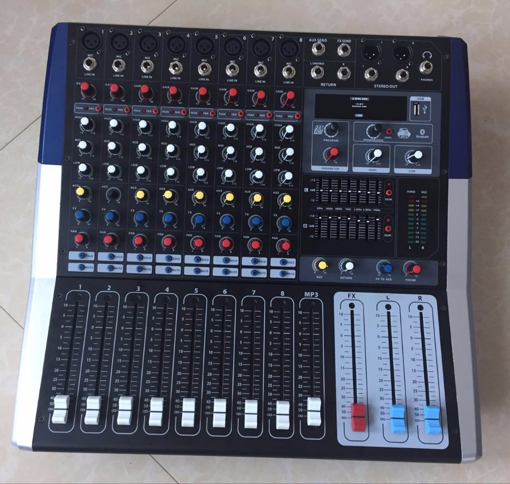 China mixer console audio mixer 8 channel for sound system KV80