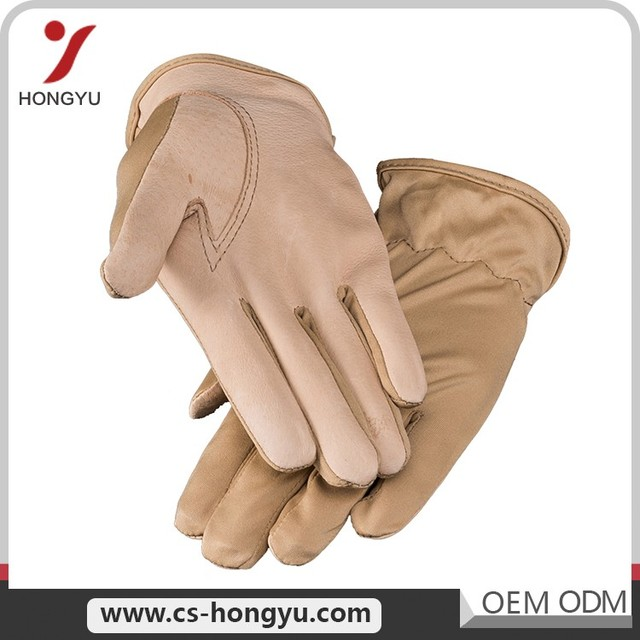 Commercial good industrial use mens building cheap safety sheepskin leather work gloves
