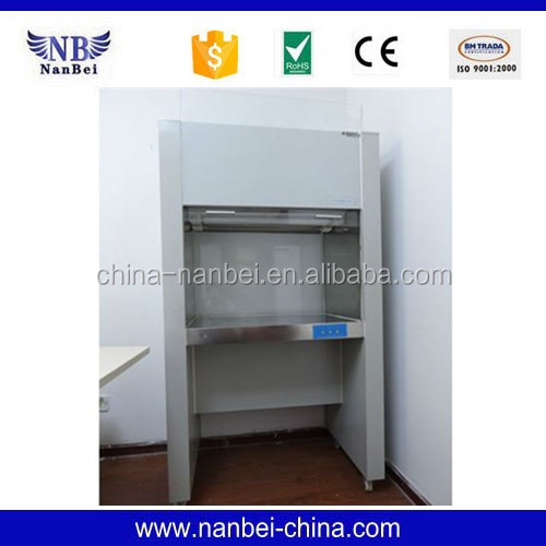 Vertical Class 100 clean bench with UV lamp