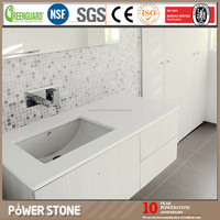 Chinese White Quartz Artificial Stone Vanity Top