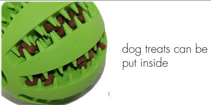 70mm Cheap Rubber Dog Ball Toys , Rubber Treat Ball