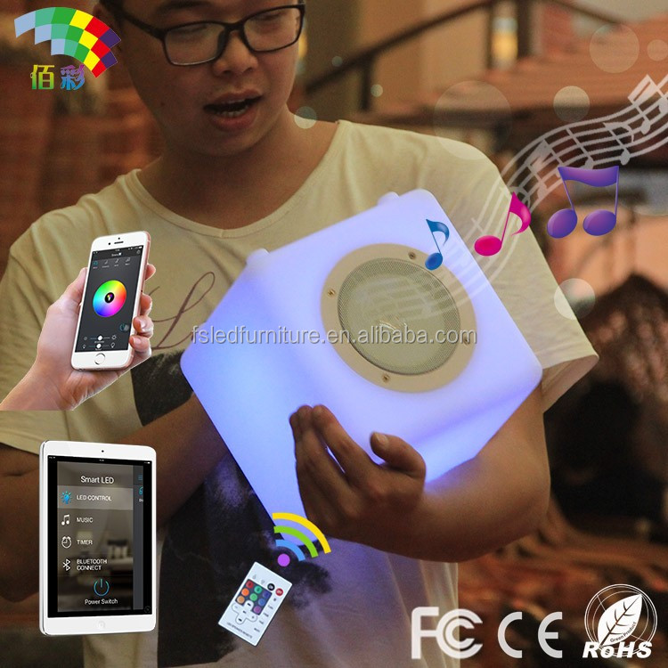 enjoy music anytime anywhere remote control bluetooth speaker with led light
