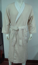 Hotel project textile polyester and cotton terrry cloth bathrobe on sale