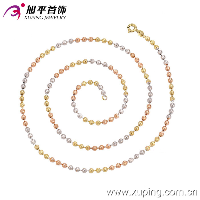 latest beads chain multicolor simple necklace designs