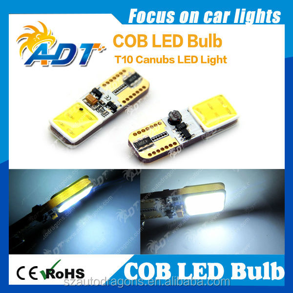 New product 2014 high power W5W 194 T10 COB LED lights used auto parts