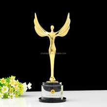 K9 Oscar Trophy Custom Metal Little Angel with Clear Stand