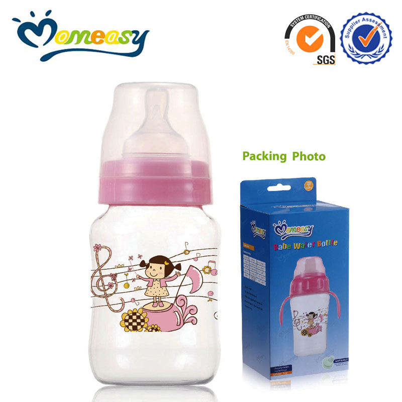 High quality 8oz wide neck PC blowing baby milk drinking bottle