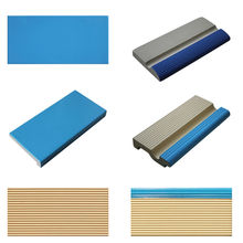 International standard China outdoor cheap ceramic non-slip bullnose swimming pool edge trim rubber tile
