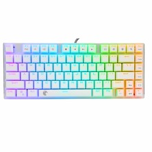 E Element z88 RGB White Mechanical Keyboard OTM Blue Switch US Layout <strong>10</strong> modes LED 81 keys small size for Travel