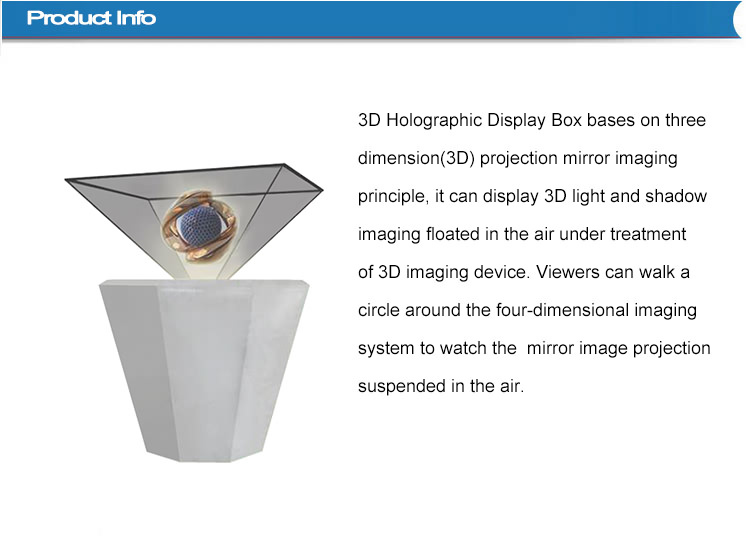 360 degree HD digital signage 3D Holographic Advertising Lcd Display