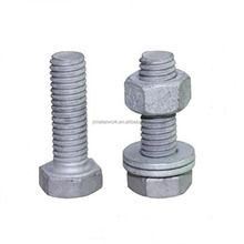 M30 M40 garde 8.8 HDG hot dip galvanized hex bolt and nut with washer DIN933 DIN934