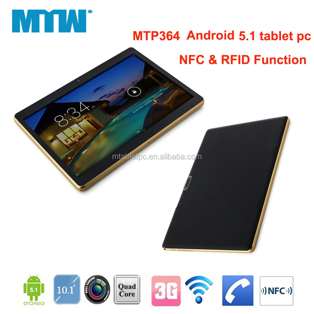 Android 5.1 tablet pc with NFC FRID function built-in 3G gsm 10.1inch tablet pc