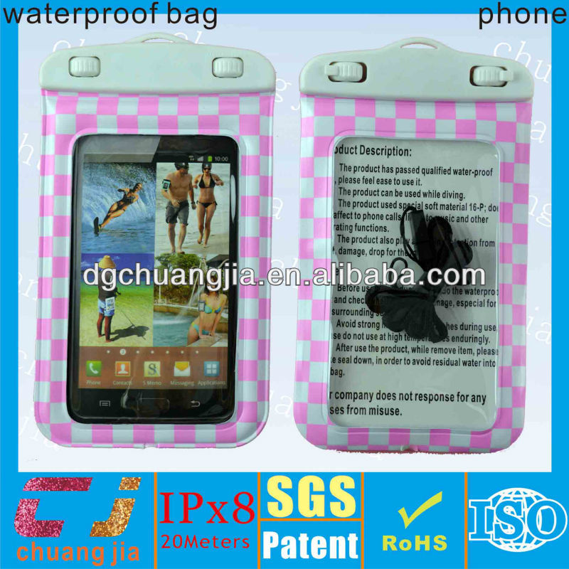 New design waterproof case for samsung galaxy note 3