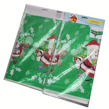Christmas Party design Disposable Plastic Coated Tablecloth / table Cover