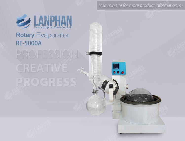 Good quality rotary evaporimeter 5l price with ce certificated