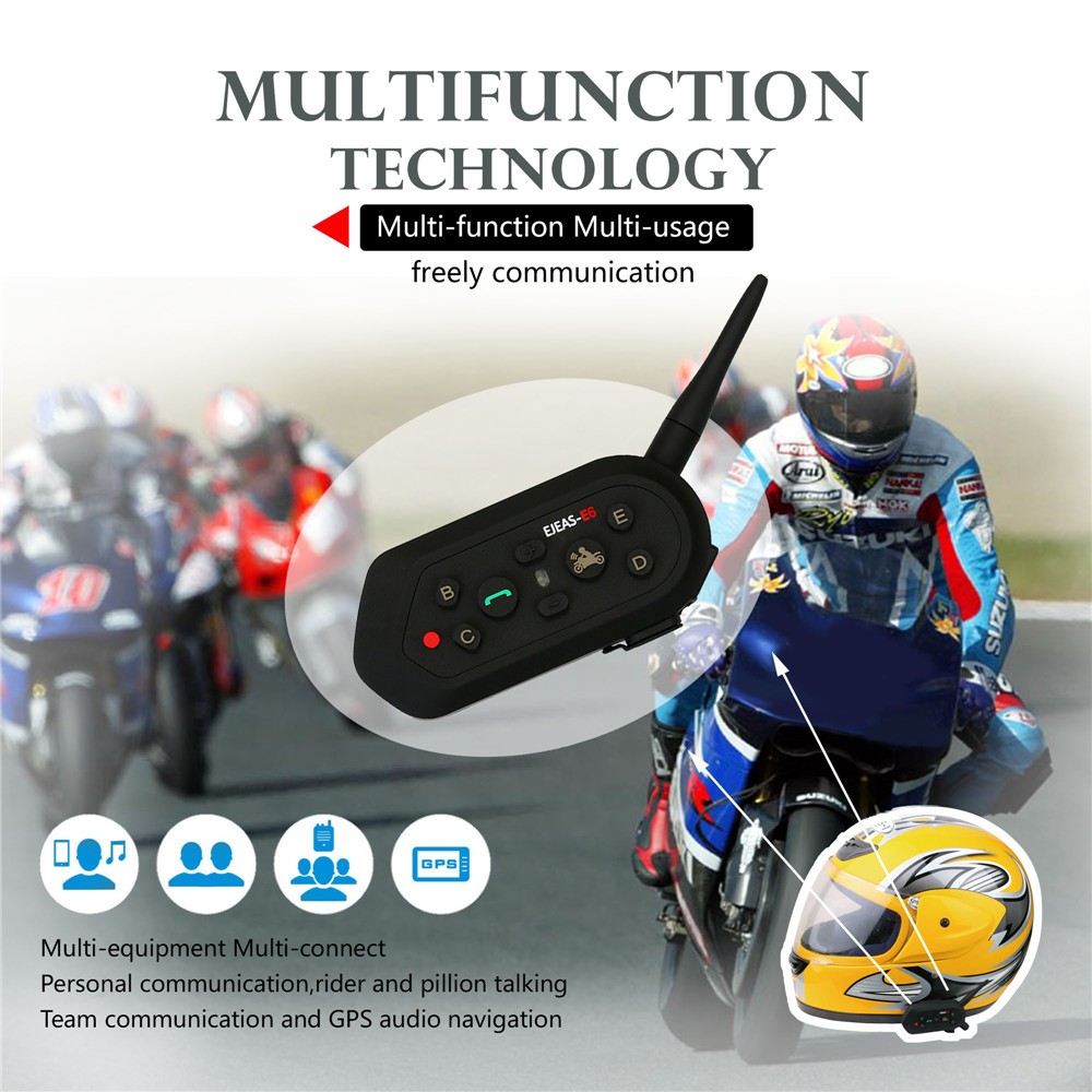 2016 NEW ejeas brand E6 chinese bluetooth headset driver bluetooth interphone for motorcycle helmet