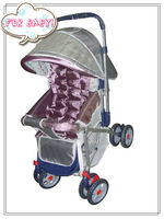 South America hot sale reversible handle baby stroller with large storage bag Item 2055
