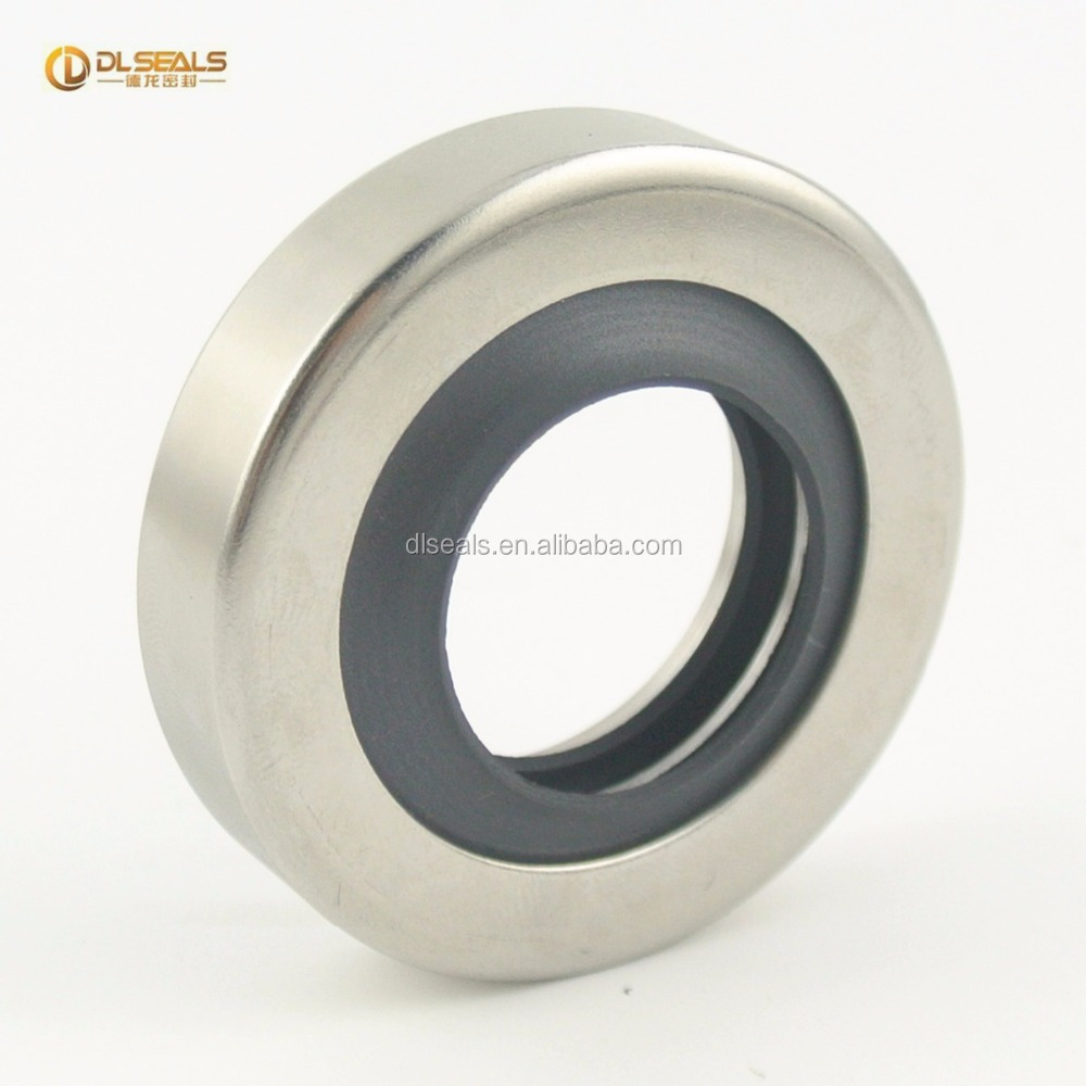 Customized hydraulic stainless steel PTFE double lip oil seal
