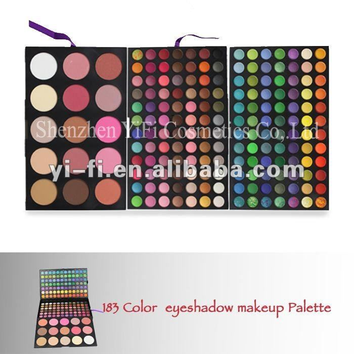 Pro 183 color high quality makeup set two faced eyeshadow