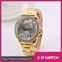 2015 New Watch Stainless Steel Gold Leopard Pattern Watches Fashion watch distributors and wholesalers XR1035