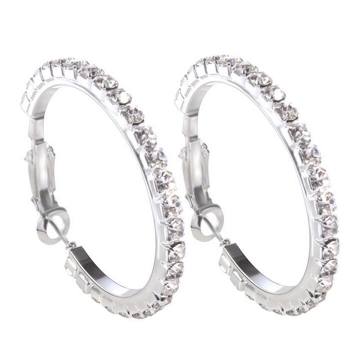 Big circle Full crystal earring for women