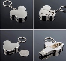 Fashion Mickey USB Flash Drive pen drive 4GB 8GB 16GB 32GB memory Disk mini Gift metal pendrive u disk usb 2.0 lovely hot sale