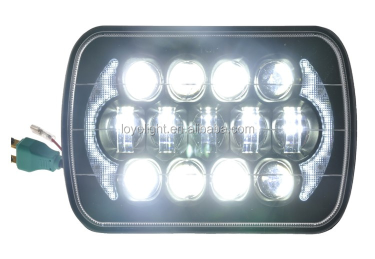 "original car replacement 7"" led headlights for jeep YJ Cherokee XJ Trucks 4X4"