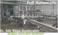 Full automatic beer keg washing and filling production line machine