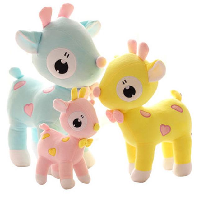 custom cute funny smile Christmas deer plush toy