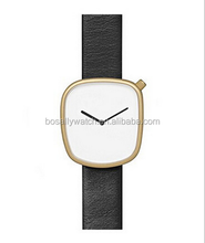 2017 new big brand TOMI discount branded plain black watch