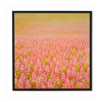 Beautiful Pastel Color Flowers Fields Oil Painting