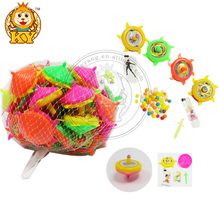 Plastic Spinning Top Candy Toy With Tattoo And Toy