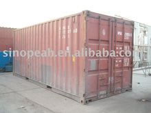 20 used steel shipping containers