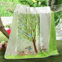 Free Shipping 2016 New Home Tetile 1Pc 100% Cotton Air Conditioning Summer Cool Quilt Printed Bedding Bed Spreads Quilt