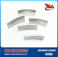 Customized Strong Permanent Neodymium Arc Magnets For Motor Bike