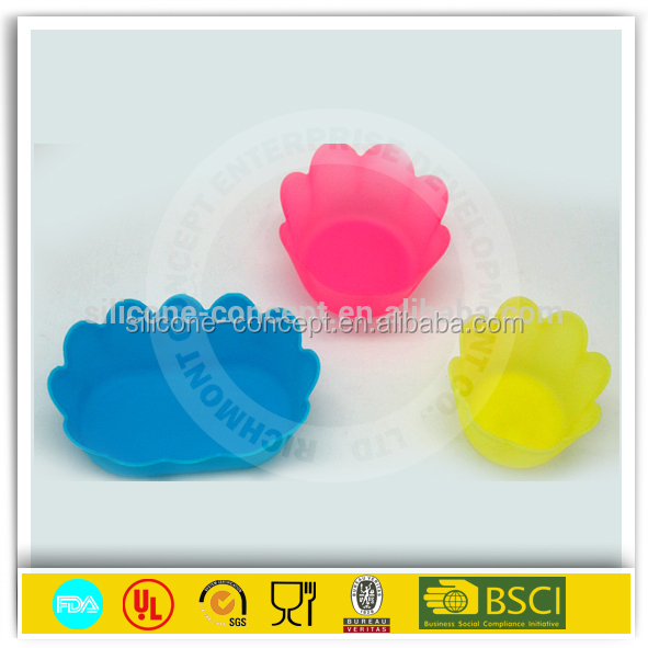 Chinese supplier custom flowerpot silicone cupcake molds