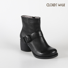 Italy brand ladies leather shoes online handmade leather boots womens