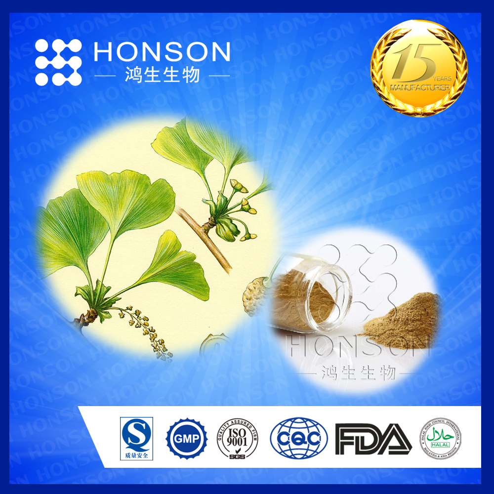 for reduce blood press ingredients Gingko Flavonoids 24% Bilobalide 6% ginkgo biloba leaf extract