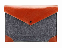 Factory price felt+pu laptop cover case for Macbook Air/Pro