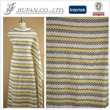 Jiufan Textile 2016 New Style High Qty Fancy Fabric Knitting Poly Acrylic Fabric Supplier in Shaoxing