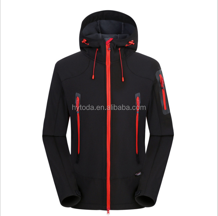 Red jacket for men custom waterproof work jacket softshell