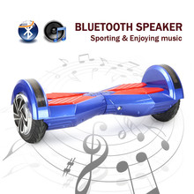 2015 New Smart Balance Wheel 8 inch Two Wheels Bluetooth Electric Scooter With Remote Control Bluetooth Speaker with LED