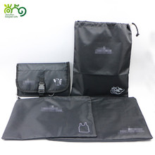 Nylon 4pcs set travel bag set organizer