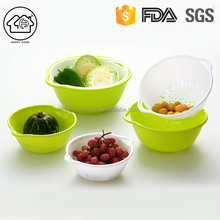 Colander and Bowl Set Fruit Vagetable Strainer Double Layer Sieve Storage Basket