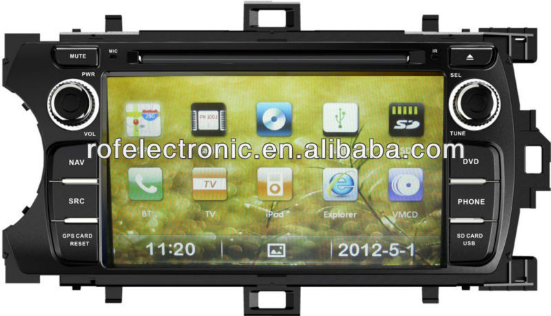 For Toyota Yaris 2012 Car DVD with GPS,Bluetooth,ipod,PIP,Games,Dual Zone,SWC