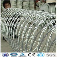 Hot-dipped galvanized/ stainless steel BTO-22 flat razor wire