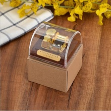 High Quality Clear Modern Popular Acrylic Music Box Dome Box with Stop Button Musical Toys Tune