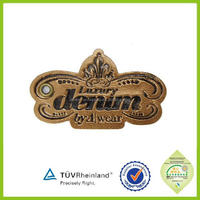 fashion garments leather label for polo shirt